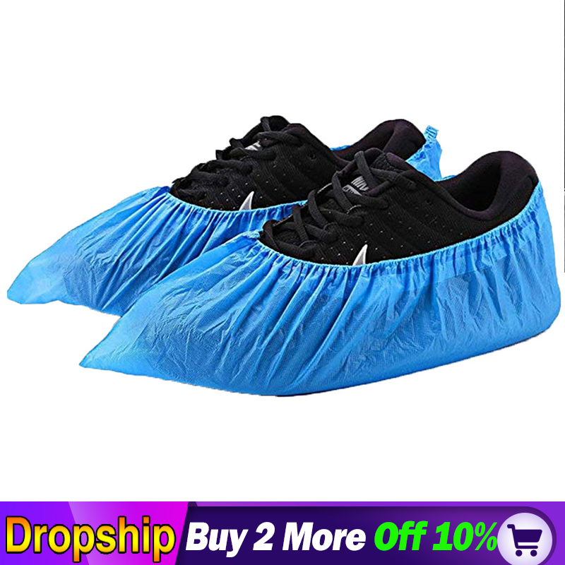 100 Pack(50 Pairs)Shoe Covers Disposable Waterproof Rain Shoes Covers Slip-resistant Rubber Rain Boot Overshoes S/M/L Shoes