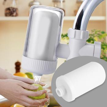 1 sztuk wielokrotnego użytku kran zamontować wkład filtra zmywalny wkład oczyszczania wody z kranu wkłady filtra wody tanie i dobre opinie 1 pc ABS + Ceramic White