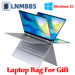 LNMBBS 360° Laptop 13.3 inch Notebook 8GB LPDDR4 256GB SSD 1920*1080 IPS touch screen intel N4100 BT5.0 WIFI Camera slim laptop