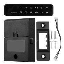 Cerradura electrónica Digital para armario, cerradura de seguridad con contraseña sin llave de 12 botones para cajones y armarios