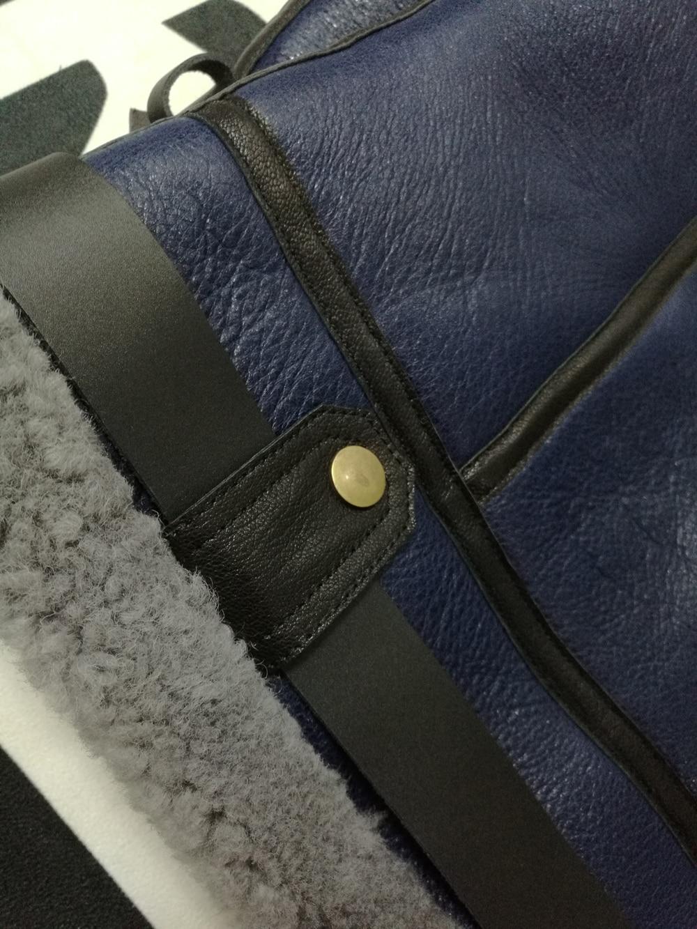H868e75a3805243fa83931c3230ce616dG 2019 Fashion 100% Quality Real Sheepskin Fur Men Coat Genuine Full Pelt Sheep Shearling Male Winter Jacket Brown Men Fur Outwear