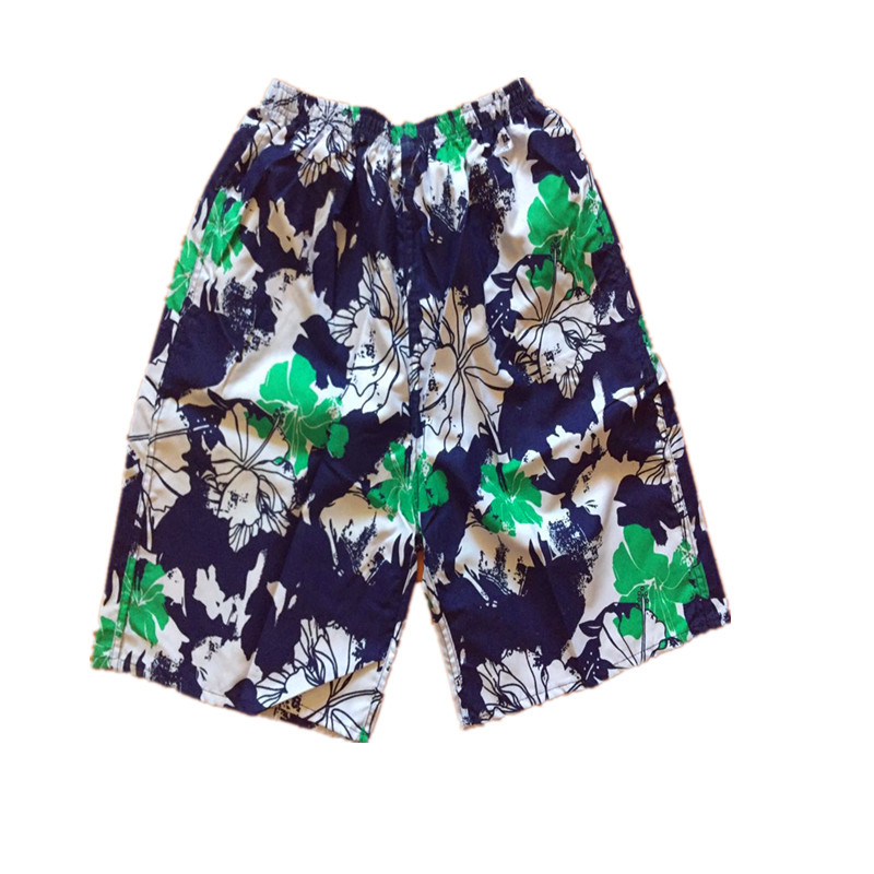 MEN'S Beach Pants Printed Full Flower Printed Loose-Fit Casual Quick-Dry Short-Surfing Drifting Booth Goods