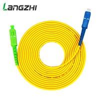 Cable de Fibra de un solo modo, Parche de puente de Fibra óptica, SC APC a SC UPC Simplex, 2,0mm, 3,0mm, PVC, 10 Uds.