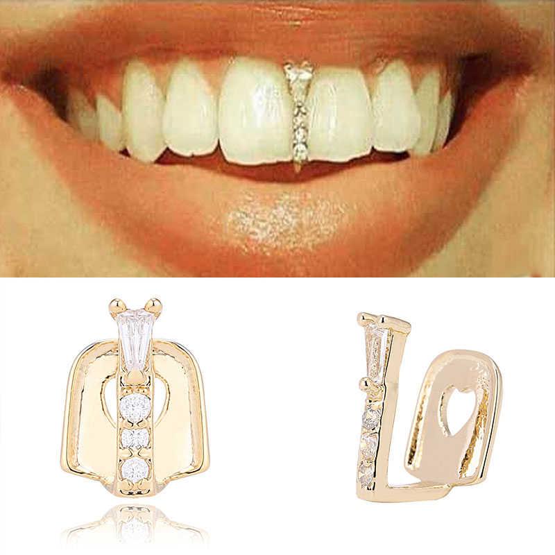 2020 חדש היפ הופ זהב שיניים Grillz למעלה גריל שיניים פה מצחיק תכשיטי פאנק שיניים כובעי קוספליי מסיבת שן ראפר מתנה
