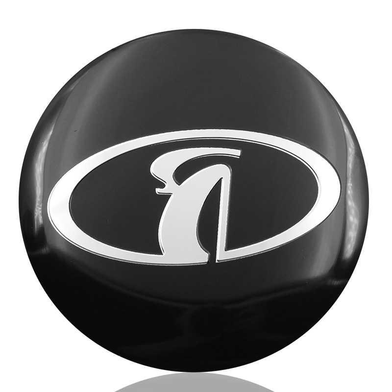 4 pièces de Style de Voiture De Moyeu de Roue Bouchon Autocollants 56.5mm emblèmes Pour Lada Niva Kalina Priora Granta Largus Vaz Samara Accessoires