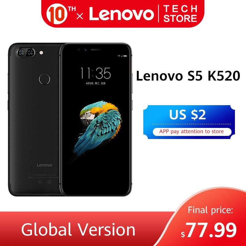 Original Global Version Lenovo S5 K520 Smartphone 4GB 64GB ROM Snapdragon 625 Octa Core Dual Rear 13MP Google Play Cellphone