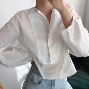 Image 4 - CHICEVER เกาหลีเสื้อลำลองผู้หญิงสแควร์คอโคมไฟแขนขนาดใหญ่เสื้อหลวมหญิง 2019 แฟชั่นฤดูใบไม้ร่วงใหม่