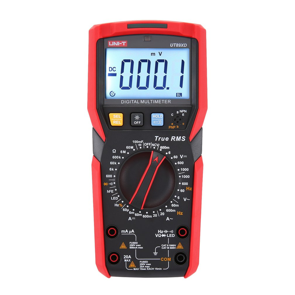 Original UT89X/UT89XD True RMS Digital Multimeter High Current NCV/Capacitor/Triode/Temperature/Frequency Resistance Test