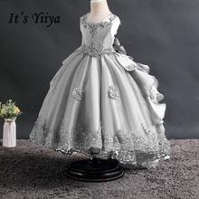 Платья для девочек с серыми цветами на свадьбу it's yiiya