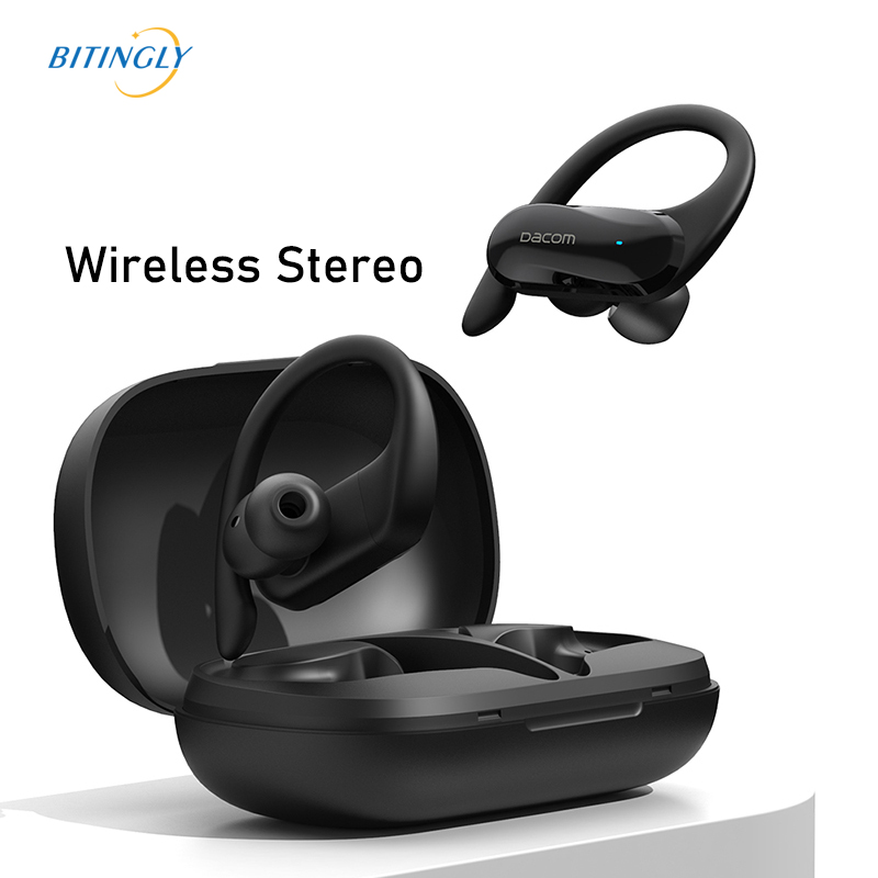 TWS IPX5 Waterproof Wireless Headset with Ear Hook Touch Earbuds Sport Bass Bluetooth 500mAh 3D Stereo Earphone For Mobile Phone image