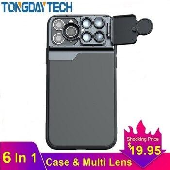 Tongdaytech عدسة الكاميرا ل آيفون X XR XS 11 برو ماكس 6 في 1 جراب هاتف عين السمكة زاوية واسعة ماكرو Lente الفقرة هيكل السمكة-في عدسات الهاتف المحمول من الهواتف المحمولة ووسائل الاتصالات على