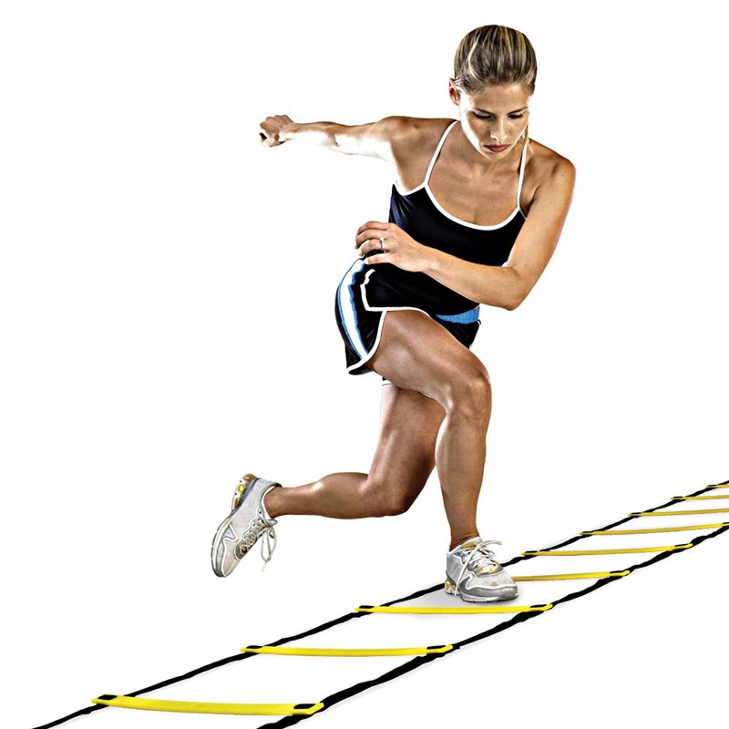 3 6m 12 Rung Agility Ladder & Resistance Parachute Agility Training Set for Soccer Football Speed Running Training Power Exercise