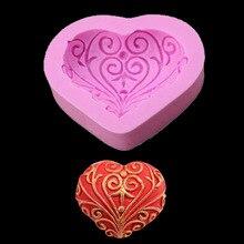 1PC Valentines Day Heart-shaped Peach Heart Love Cake Mold Stock Baking DIY Manual Chocolate Fudge European style