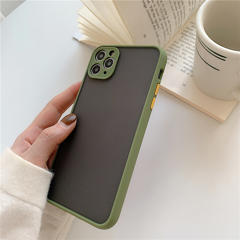 Matte Translucent Camera Protection Bumper Phone Cases For iPhone 11 11 Pro Max XR XS 9