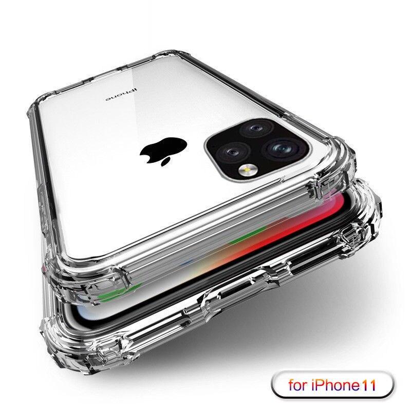 Heavy Duty Caso di Protezione Per il iphone 11 Pro Max X XS Max di Quattro Angolo di Rafforzare Silicone Trasparente Della Copertura Per il iphone XR 6 6S 7 8 Più