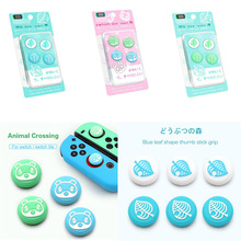 Animal Crossing Puppy Isabelle Bear Leaf Thumb Stick Grip Cap Joystick Cover For Nintendo Switch NS Lite Joy con Controller Case