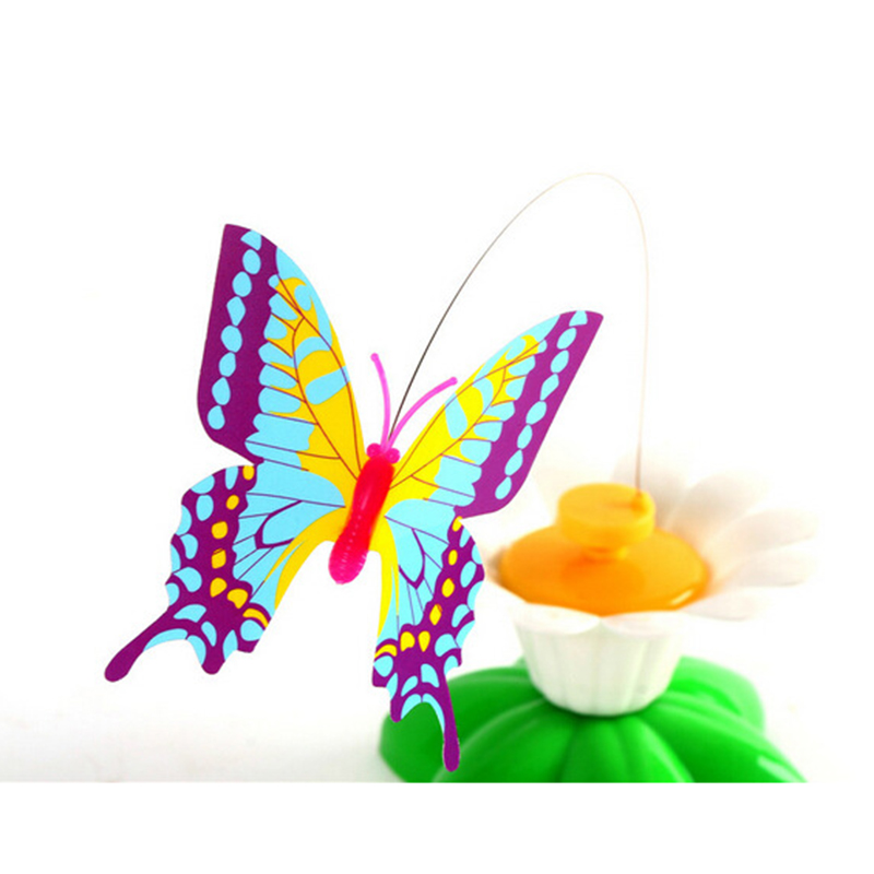 Hot Selling Pet Cat Toys Electric Rotating Butterfly Bird Steel Wire Teaser Kitten Play Toy LBV