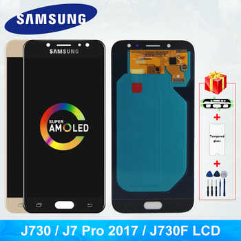 Super Amoled J730FN/DS Für Samsung Galaxy J7 Pro 2017 J730 J730F LCD Display und Touch Screen Digitizer Ersatz teile