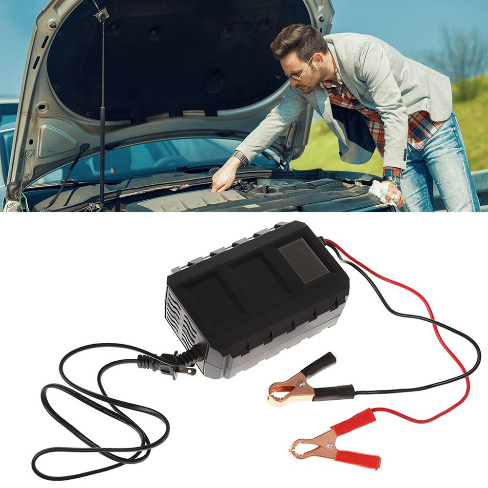 EU Intelligent 12V 20A Automobile  Lead Acid Battery Charger Car Motorcycle US