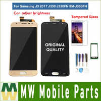 Original For Samsung Galaxy J3 2017 J330 J330FN SM-J330FN LCD Display With Touch Sensor Glass Digitizer Assembly with kit