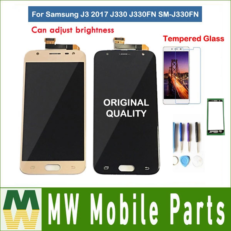 Original For <font><b>Samsung</b></font> Galaxy J3 2017 J330 <font><b>J330FN</b></font> SM-<font><b>J330FN</b></font> LCD Display With Touch Sensor Glass Digitizer Assembly with kit image