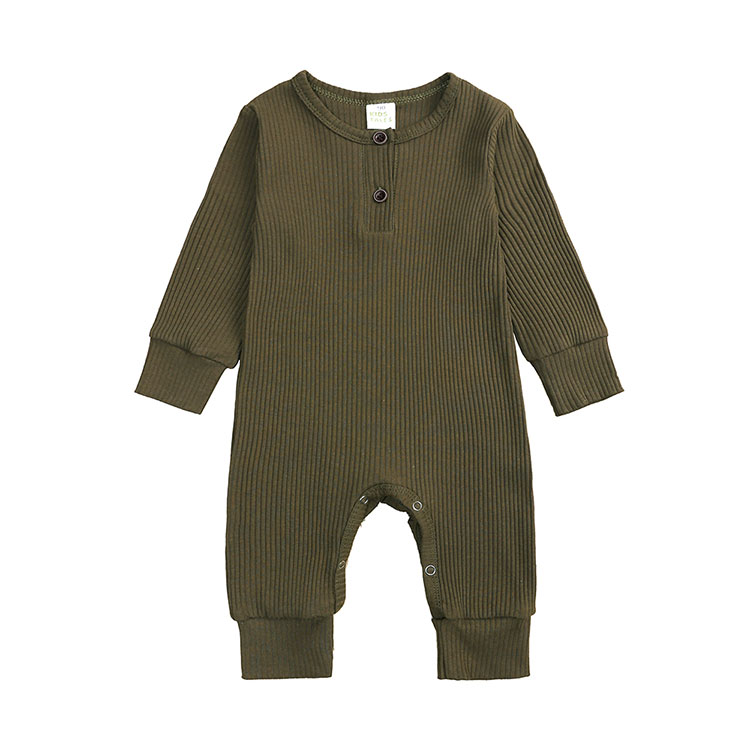 Baby Boy Romper Long Sleeve Knitted Ribbed Baby Clothes Girl Rompers Solid Color Toddler Romper Infant Clothing 0-24 Months | Happy Baby Mama