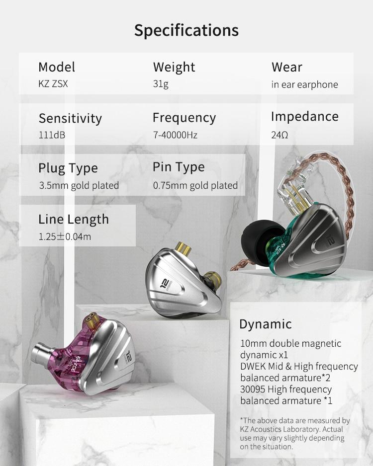 earbud com fio gancho da orelha 3.5mm 2pin 5n ofc cabo headphon