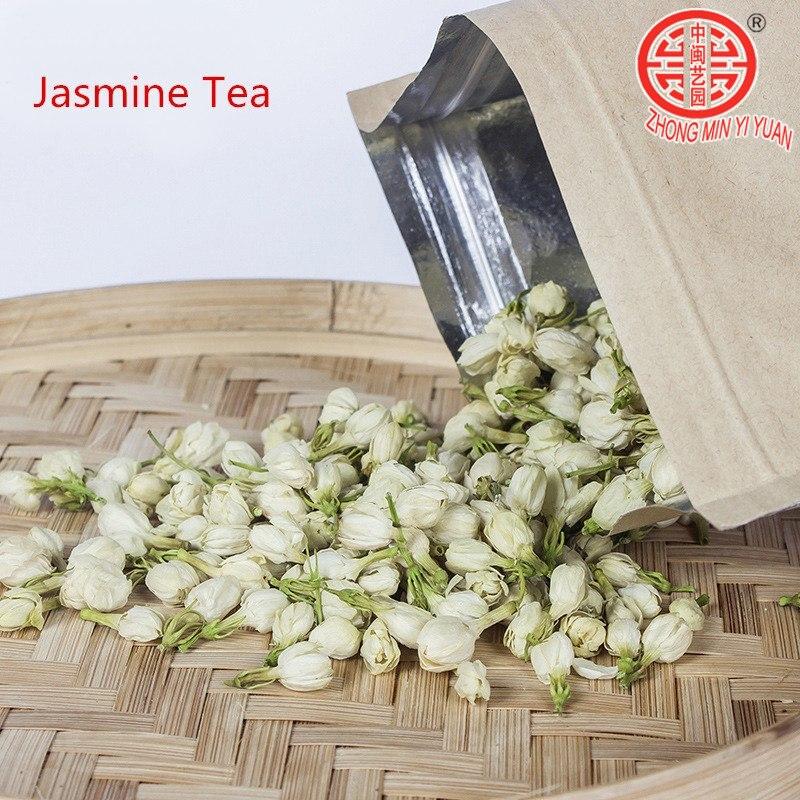 100g Fresh Jasmine Tea Natural Organic Premium Jasmine Green Tea Jasmine Small Dragon Pearl Fragrance Flower Kung Fu Tea Food