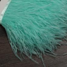 15 20 ซม.6 M นกกระจอกเทศตัดผ้าสำหรับ DIY Feather robin Fringe ตกแต่ง Carnival
