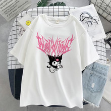 Y2K summer T-shirt Street Beauty T-shirt Bratz handsome fashion women's simple loose cotton short sleeve T-shirt Harajuku top