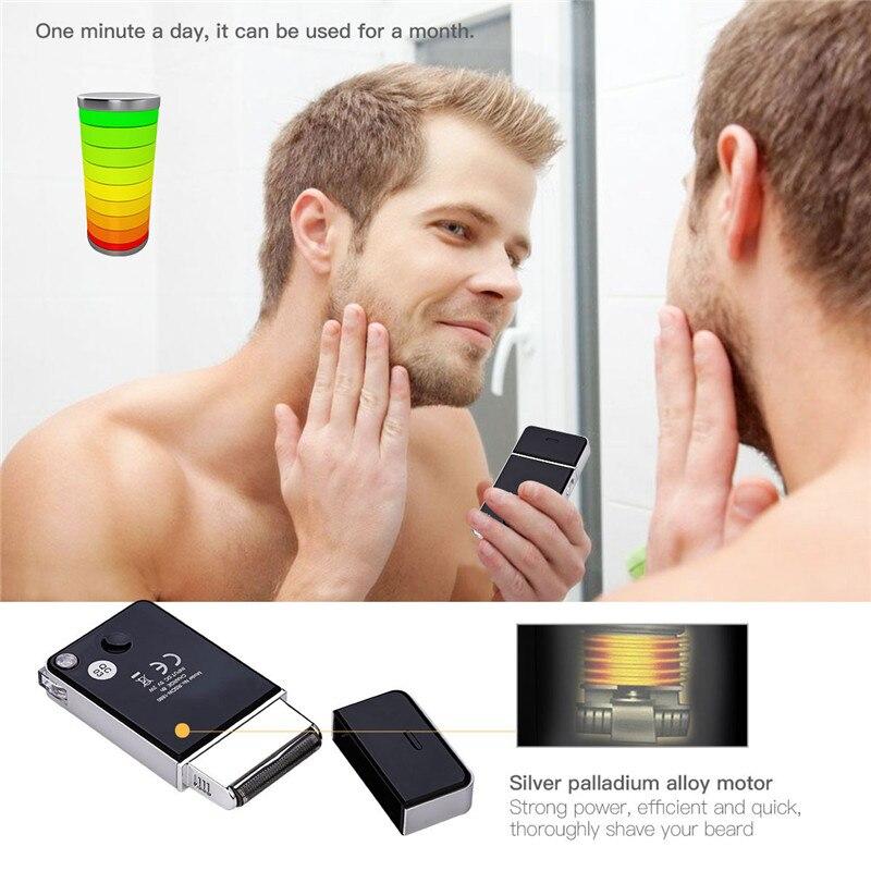 Мужская мини-бритва с usb-зарядкой, перезаряжаемая электробритва для ухода за лицом, инструмент для бритья волос, триммер для бороды S34
