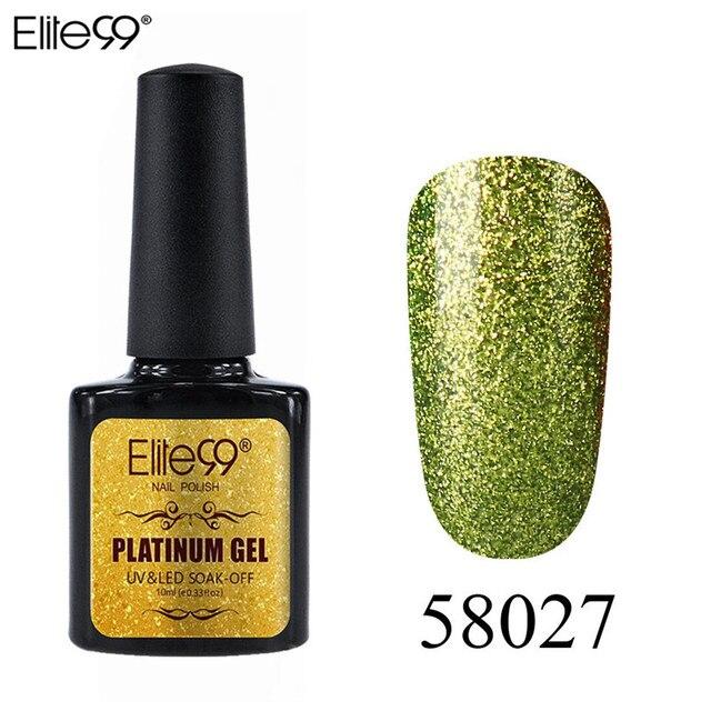 Elite99 Gel Nagellack Set Shiny Platin Nägel Kunst Für Maniküre Poly Gel Lak UV Farben Top Basis Mantel Primer hybrid Lacke