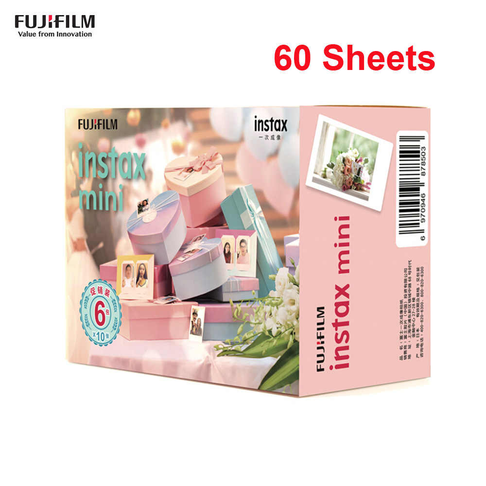 Fujifilm 10-60 Sheets for Instax Mini Camera Instant Film Photo Paper  for Instax Mini 9/8/7s/25/50s/70/90 for SP-1/2 Smartphone