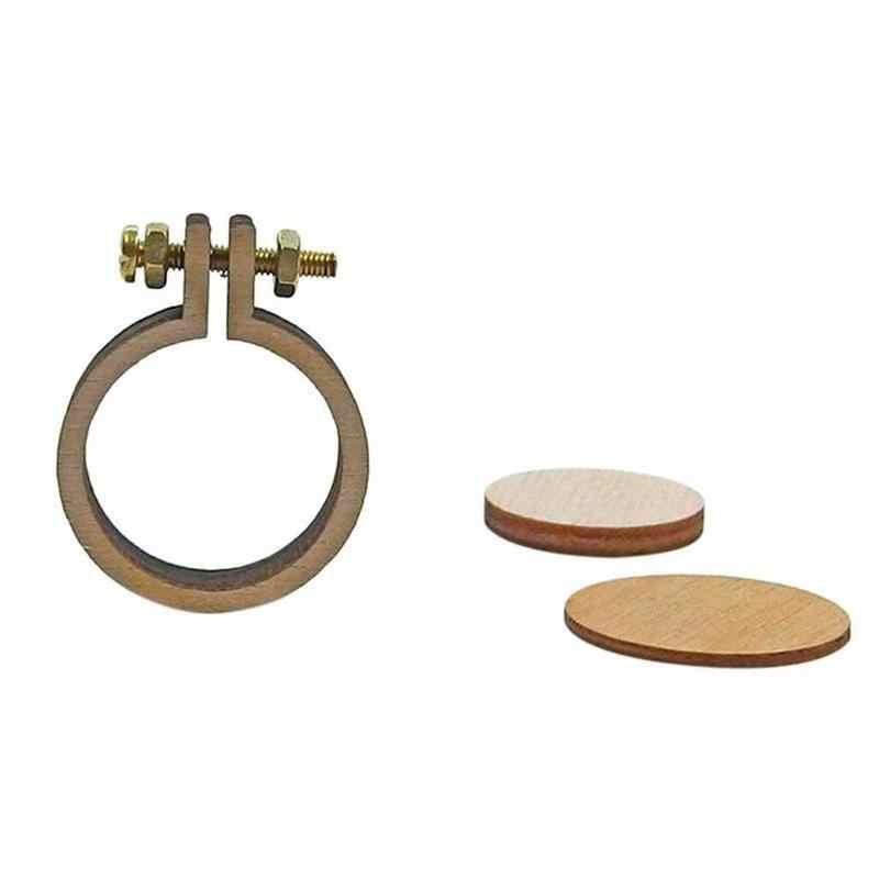 Mini Holz Kreuz Stich Hoop Ring Stickerei Kreis Stickerei Hoop Holz Rahmen Kit Werkzeuge Nähen Rahmen Handwerk T4E8