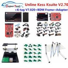 KESS V5.017 красный PCB K-T..V7.020 V2.25 4 светодиодный мастер K-TAG 2,25 7,020 светодиодный рамка фонового режима отладки ЭБУ чип инструмент настройки Kess 5,017 Ад...