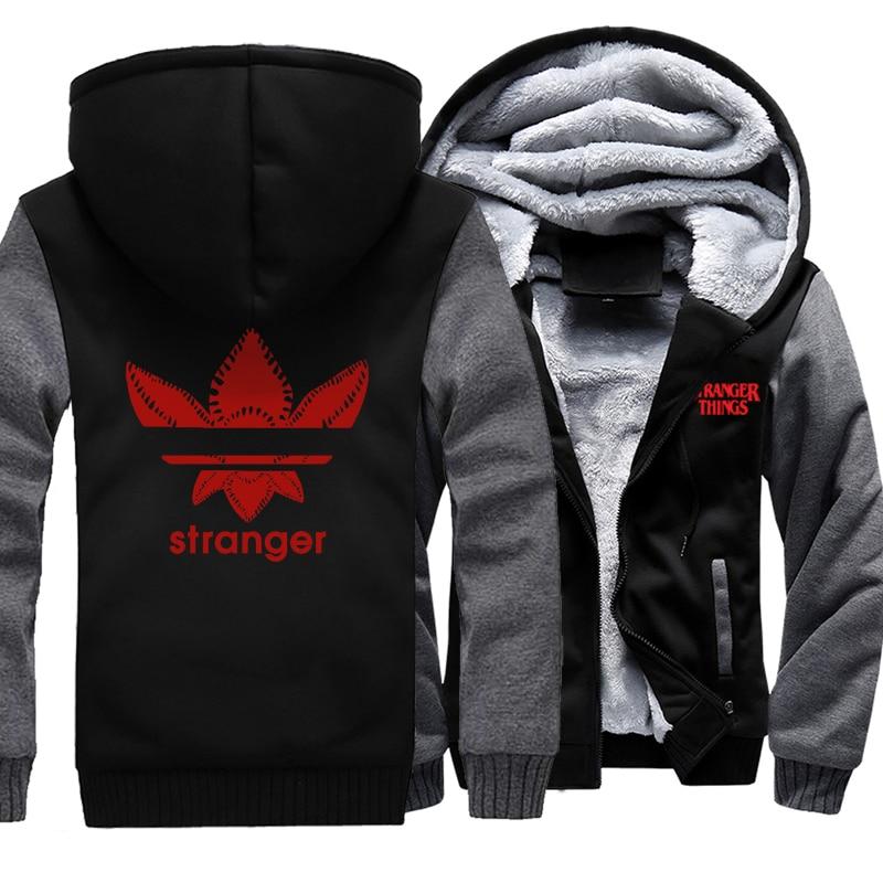 Thick Hoodies Men Stranger Things Streetwear Jacket Male Hoodie 2019 Autumn Winter Warm Coat Hip Hop Mens Hooded Hoody Jackets