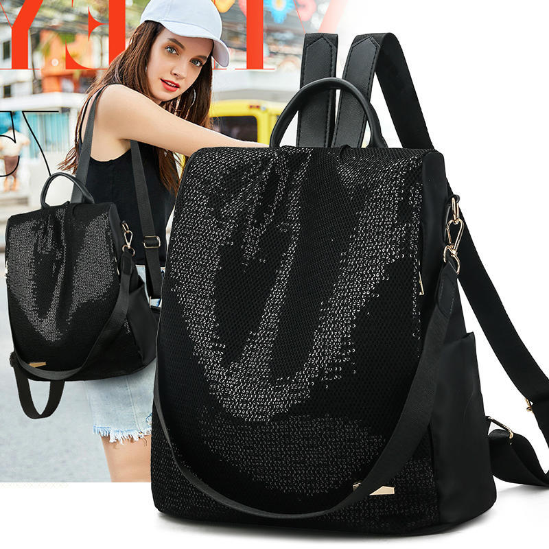 Oxford Cloth Backpack Female New Fashion Canvas Ladies Bags Casual Anti-Theft Backpack