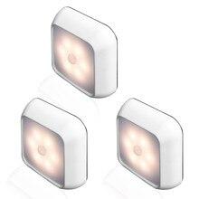 6LEDs PIR Motion Sensor Light Battery Led Nightlight For Clo