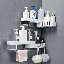 Угловая полка органайзер для ванной комнаты, настенная кухонная полка для шампуня, бытовые предметы, аксессуары для ванной комнаты