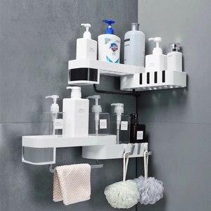 Image 1 - Corner Bathroom Organizer Shelf Shampoo Cosmetic Storage Rack Wall Mounted Kitchen Shelf Household Items Bathroom Accessories