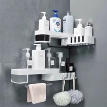 Prateleira organizadora de canto, prateleira para armazenamento de cosméticos e shampoo, acessórios de banheiro e cozinha