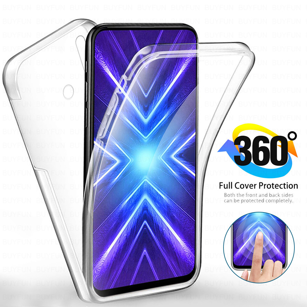 360 front+back phone case on for <font><b>Huawei</b></font> Y9 2018 Y7 Pro Y6 Prime <font><b>2019</b></font> y9prime y6prime y7pro <font><b>y</b></font> 6 <font><b>7</b></font> 9 <font><b>2019</b></font> soft cover tpu+pc <font><b>fundas</b></font> image