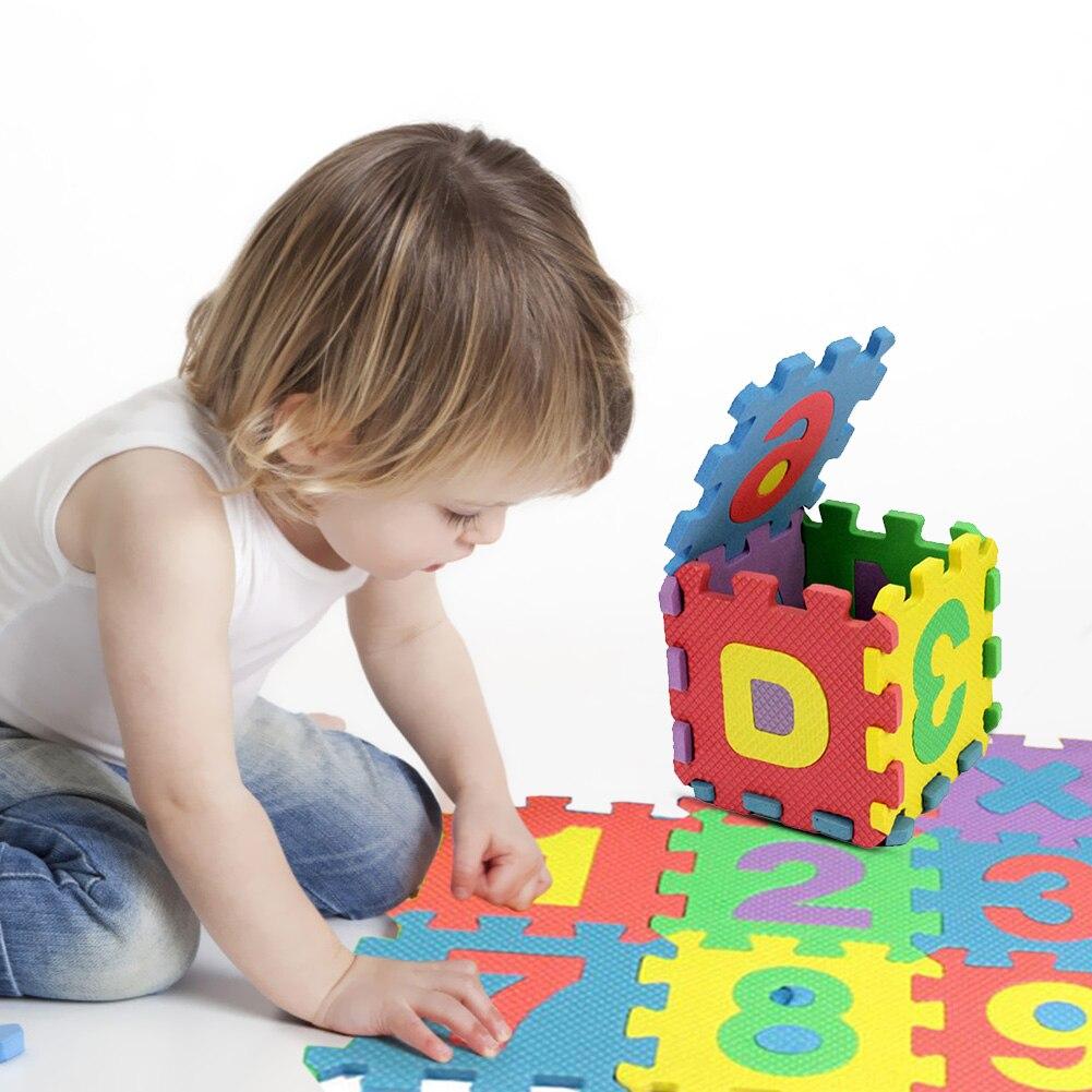 Tappeto puzzle lettere Baby Play Floor Mat 36pcs Schiuma Morbido EVA tappetone Number Alphabet Puzzle Foam Crawling Pads