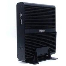 HYSTOU FMP05B Mini PC i7-7500U 8GB RAM 256GB SSD Quad Core Win10 DDR4 Intel UHD Graphics 620 5.0GHz Fanless Mini Desktop PC