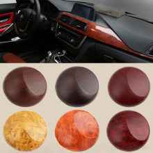 30cm*100cm Car Interior Foil Wood Grain Sticker Glossy Walnut Color Film Decals Styling