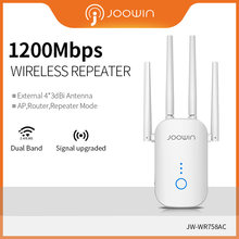 Joowin alta velocidade 1200mbps wifi repetidor banda dupla 2.4g & 5.8g sem fio wifi extensor uso 4*3 antenas dbi longo sinal JW-WR758AC