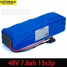 Liitokala 48v 7.8ah 13s3p alta potência 7800mah 18650 bateria veículo elétrico motocicleta kit de conversão bafang 1000w
