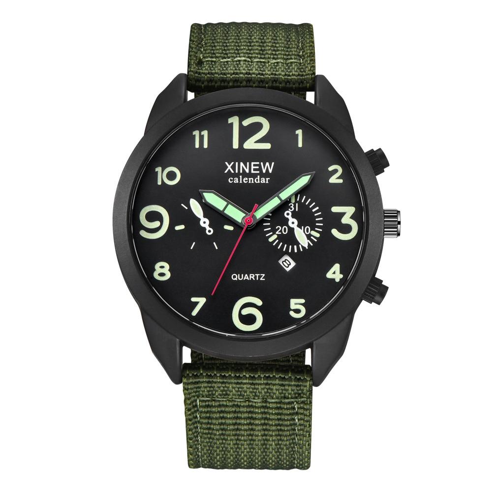 Canvas Wrist Watches Men`s Sport Calendar Clock Relogio Masculino 2020 Top Brand Outdoor Men Quartz Watch