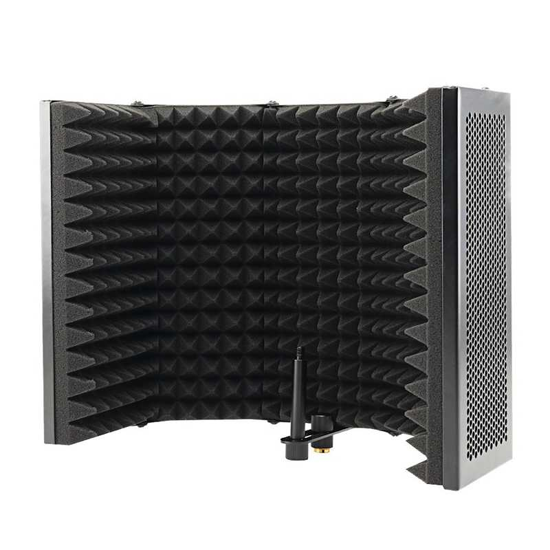 5 Panel Faltbare Studio Mikrofon Isolation Schild Aufnahme Sound Absorber Schaum Panel Professional Studio Schallschutz Panel