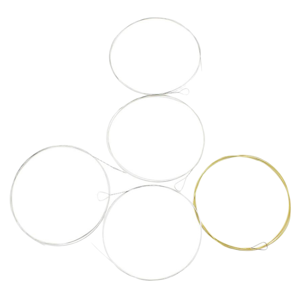 5pcs Strings For 5-String Banjo Loop End Strings Bronze Wound High Quality BJ12